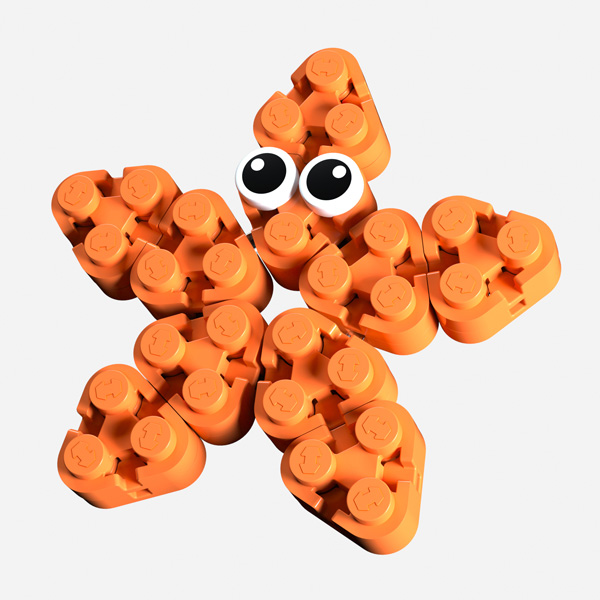 A cute starfish made from the new Flexo Triangle brick