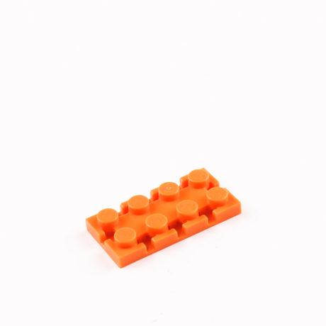 Orange 2x4 Rectangle Brick