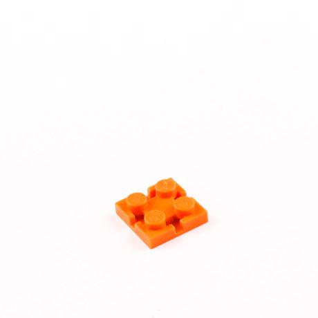 Orange 2x2 Square Brick